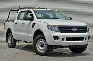 2013 Ford Ranger PX XL Double Cab 4x2 Hi-Rider White 6 Speed Manual Utility Seaford Frankston Area Preview