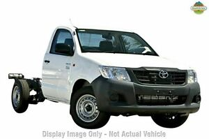 2012 Toyota Hilux TGN16R MY12 Workmate White 5 Speed Manual Cab Chassis Moonah Glenorchy Area Preview