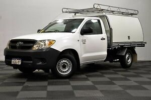 2008 Toyota Hilux TGN16R MY08 Workmate White 5 Speed Manual Cab Chassis Thornlie Gosnells Area Preview