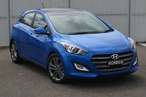 2015 Hyundai i30 GD3 Series II MY16 Premium DCT Blue 7 Speed Sports Automatic Dual Clutch Hatchback Gosford Gosford Area Preview