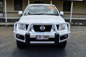 2013 Nissan Navara D40 S6 MY12 ST White 5 Speed Sports Automatic Utility Rockhampton Rockhampton City Preview