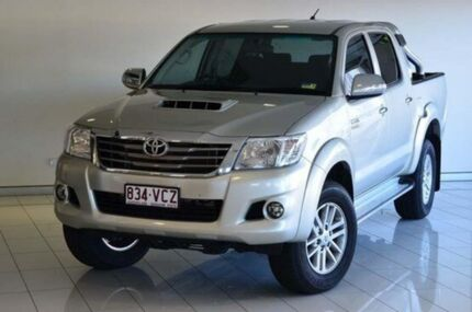 2014 Toyota Hilux KUN26R MY14 SR5 Double Cab Silver 5 Speed Automatic Utility Southport Gold Coast City Preview