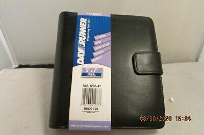 Dayrunner Planner Personal Organizer Black 5 X 7 Spiral Snap New Nos 2004 508-12