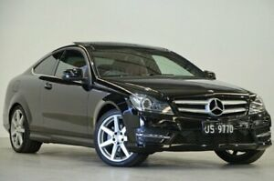 2014 Mercedes-Benz C-Class C204 MY14 C250 7G-Tronic + Obsidian Black 7 Speed Sports Automatic Coupe