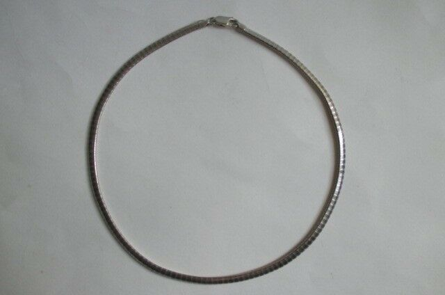 "925 Sterling Silver ITALY Chain Necklace 16"" Long, 19.8 grams 4 mm"