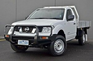 2012 Nissan Navara  White Manual Cab Chassis Cranbourne Casey Area Preview