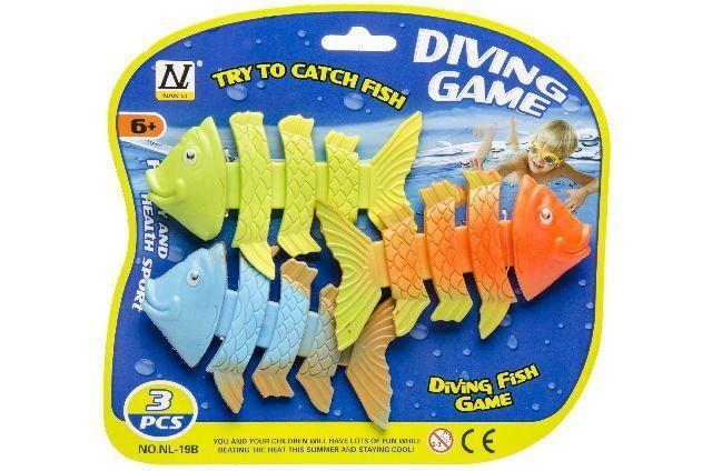 3er Tauchring Set Tauchringe Tauchstab Tauchspielzeug Tauchset Fische