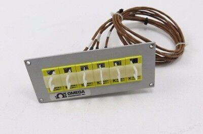 Lot Of 6 Omega K Chrom-alumel Thermocouple Connector