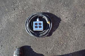 Rallonge electrique Contracteur 12/3 25 pieds a 4 branchement