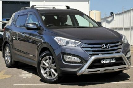2012 Hyundai Santa Fe DM MY13 Highlander Blue 6 Speed Sports Automatic Wagon