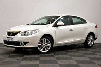 2012 Renault Fluence L38 MY12 Privilege White 6 Speed Constant Variable Sedan Thornlie Gosnells Area Preview