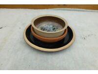 Bundle plant pot saucers Terracotta ceramic