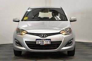 2013 Hyundai i20 PB MY13 Active Silver 6 Speed Manual Hatchback Edgewater Joondalup Area Preview