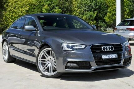 2013 Audi A5 8T MY13 Sportback S tronic quattro Grey 7 Speed Sports Automatic Dual Clutch Hatchback Gosford Gosford Area Preview