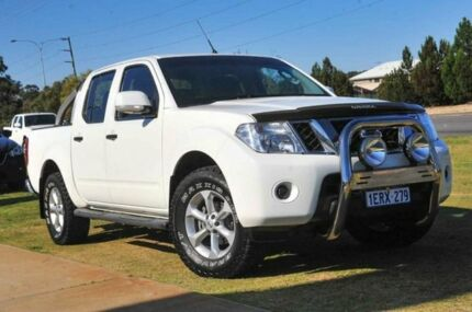 2012 Nissan Navara D40 S6 MY12 ST White 6 Speed Manual Utility Pearsall Wanneroo Area Preview