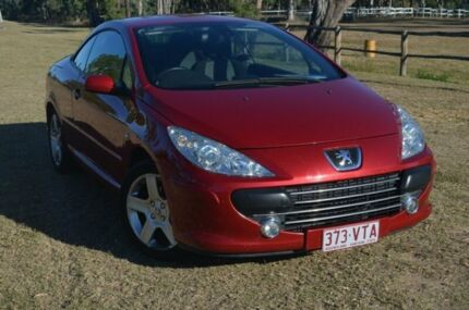 2006 Peugeot 307 T6 CC Sports Cabrio Red 6 Speed Manual Cabriolet Berserker Rockhampton City Preview