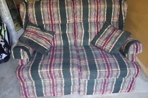 Recliner Love Seat and Two Wing Chairs
