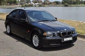 2002 BMW 316TI E46 16ti Black 5 Speed Auto Steptronic Hatchback Croydon Burwood Area Preview