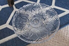 Small glass vintage cake stand