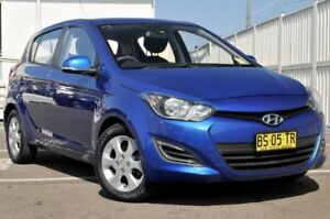 2011 Hyundai i20 PB MY12 Active Blue 5 Speed Manual Hatchback Gosford Gosford Area Preview