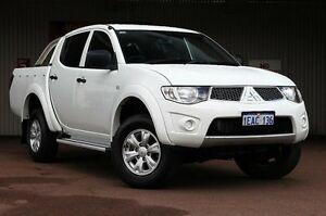 2012 Mitsubishi Triton MN MY12 GL-R Double Cab White 4 Speed Automatic Utility Northbridge Perth City Area Preview