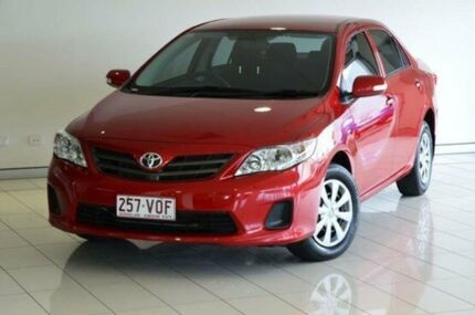 2012 Toyota Corolla ZRE152R MY11 Ascent Red 4 Speed Automatic Sedan Southport Gold Coast City Preview