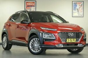 2018 Hyundai Kona OS MY18 Elite Red Semi Auto Wagon Chatswood Willoughby Area Preview