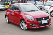 2013 Suzuki Swift FZ Sport Red 7 Speed Constant Variable Hatchback Blacktown Blacktown Area Preview