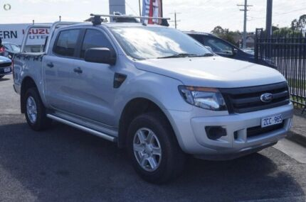 2012 Ford Ranger PX XL Double Cab 4x2 Hi-Rider Silver 6 Speed Sports Automatic Utility