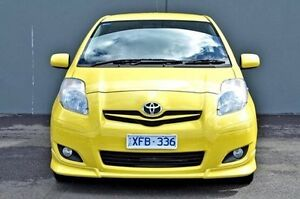 2009 Toyota Yaris Yellow Manual Hatchback Cranbourne Casey Area Preview