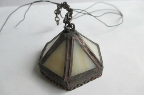 Vtg Dollhouse Miniature Handcrafted Ceiling Hanging Chandelier Light Electric