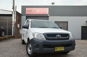 2011 Toyota Hilux Workmate White Manual CAB CHASIS WITH TRAY North Curl Curl Manly Area Preview