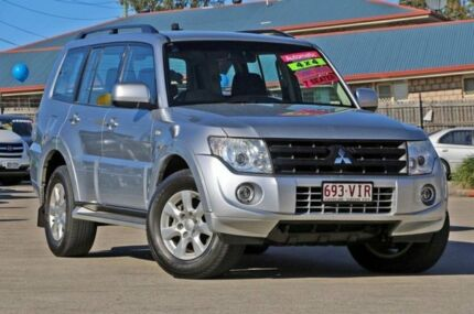 2013 Mitsubishi Pajero NW MY13 GLX-R Silver 5 Speed Auto Seq Sportshift Wagon Hillcrest Logan Area Preview