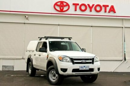 2011 Ford Ranger PK XL Crew Cab Hi-Rider White 5 Speed Automatic Utility Upper Ferntree Gully Knox Area Preview
