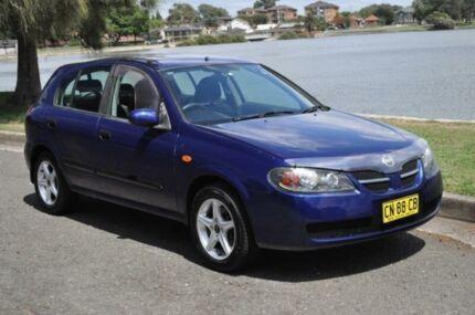 2004 Nissan Pulsar N16 MY03 ST Blue 5 Speed Manual Hatchback