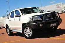 2012 Toyota Hilux KUN26R MY12 SR5 Double Cab White 4 Speed Automatic Utility Balcatta Stirling Area Preview
