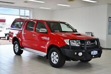 2009 Toyota Hilux KUN26R 09 Upgrade SR5 (4x4) Red 4 Speed Automatic Dual Cab Pick-up Morley Bayswater Area Preview