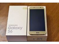 Gold Samsung Galaxy s6 boxed! 32gb like new