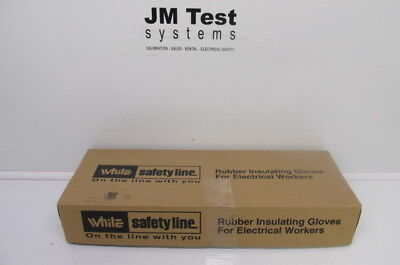 White Rubber Insulated Gloves Class 2 E216yb11 Size 11 Br