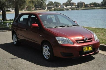 2007 Toyota Corolla ZZE122R MY06 Upgrade Ascent Seca Maroon 4 Speed Automatic Hatchback