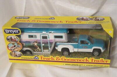 Breyer Horse Stablemate Truck & Gooseneck Trailer 5356 Wild Horse Blue NEW Toy