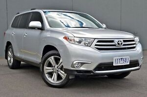 2012 Toyota Kluger GSU40R MY12 KX-S 2WD Silver 5 Speed Sports Automatic Wagon Cranbourne Casey Area Preview