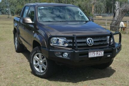 2012 Volkswagen Amarok TDi400 Trendline Mendoza Brown 6 Speed Manual Dual Cab Berserker Rockhampton City Preview