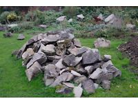 Rockery stone - large quantity of mostly very large stones - available FREE, but you must take ALL!!