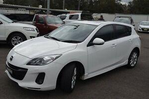 2013 Mazda 3 BM5438 SP25 SKYACTIV-Drive White 6 Speed Sports Automatic Hatchback North Gosford Gosford Area Preview
