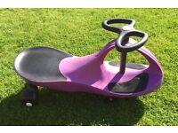 Swing Wiggle Car Swivel Ride-on Scooter Gyro Twist & Go - Purple