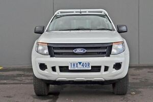 2012 Ford Ranger PX XL 2.2 (4x4) White 6 Speed Sports Automatic Cab Chassis Cranbourne Casey Area Preview