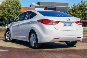 2012 Hyundai Elantra MD Elite White 6 Speed Sports Automatic Sedan