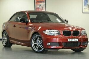2013 BMW 120i E82 LCI MY1112 Steptronic Vermillion Red Semi Auto Coupe Chatswood Willoughby Area Preview