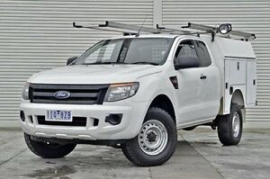 2012 Ford Ranger PX XL Super Cab 4x2 Hi-Rider White 6 Speed Sports Automatic Cab Chassis Seaford Frankston Area Preview